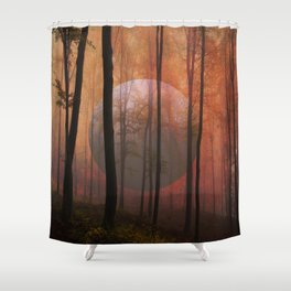 Not From Here, Surreal Forest Shower Curtain