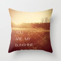 you are my sunshine Throw Pillows featuring You Are my Sunshine by Olivia Joy St.Claire - Modern Nature / T