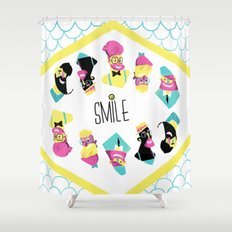 Hipster Smile Shower Curtain