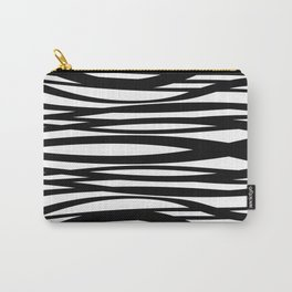 graphic Design Wave Stripes white Carry-All Pouch