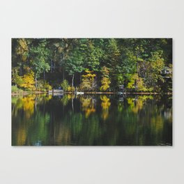 South Pond Reflections Canvas Print