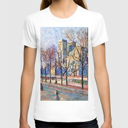 View of Notre Dame from the Quay Montebello by Maximilian Luce T-shirt