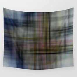 Deconstructed Abstract Scottish Plaid Pattern Wall Tapestry
