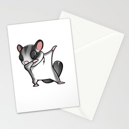 Funny Dabbing Sugar Glider Pet Dab Dance Stationery Cards