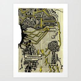 Destructive Nature Art Print