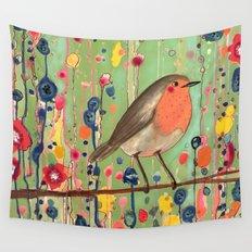 je ne suis pas qu'un oiseau revisited Wall Tapestry