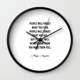 People will never forget what you said Wall Clock