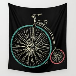Cycling Forever | Penny Farthing High Wheel Wall Tapestry