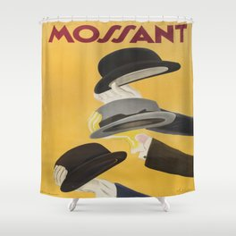 Vintage poster - Mossant Shower Curtain