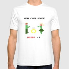 New challenge SMALL White Mens Fitted Tee