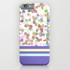 pastel dots with blue iPhone 6s Slim Case