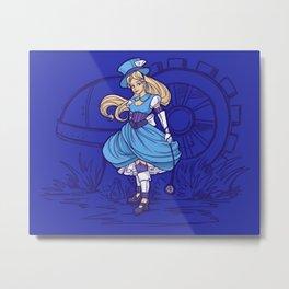 Steampunk Alice Metal Print