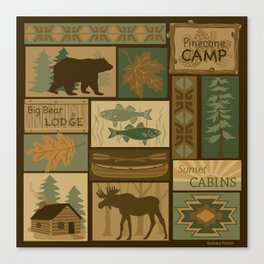 Big Bear Lodge Canvas Print