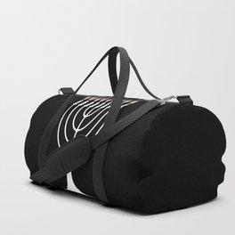 Menorh With Nine Candles Duffle Bag