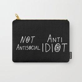 NOT Anti-Social Anti-Idiot - Dark BG Carry-All Pouch