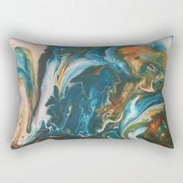 Teal Granite Rectangular Pillow