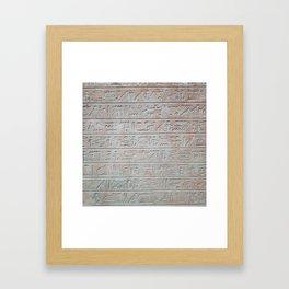 Heiroglyphs Framed Art Print