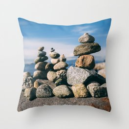 Rock Sculpture in Vancouver Throw Pillow