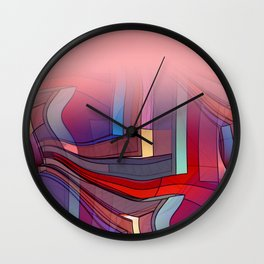 colormix -3- curtain and more Wall Clock