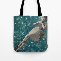 whatever Tote Bags featuring Whatever by Imogen Art