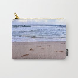 Waves & Footprints Carry-All Pouch