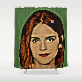 Emma Watson Popart Shower Curtain