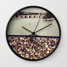 Pont des Art - Paris Wall Clock