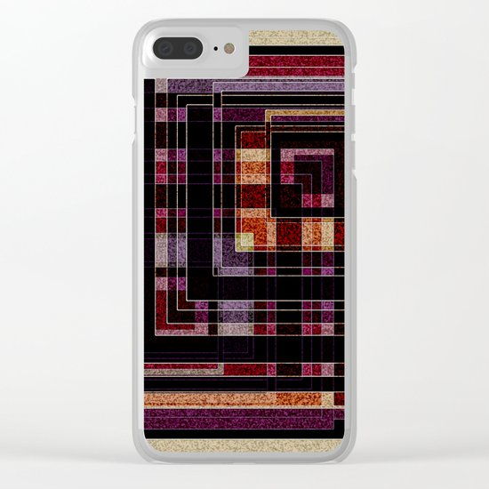 "Abstract pattern ."" Squares "".  Clear iPhone Case"
