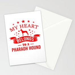My Heart Belongs To A Pharaoh Hound re Stationery Cards