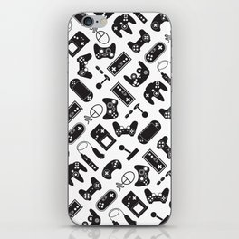 Control Your Game - Black on White iPhone Skin