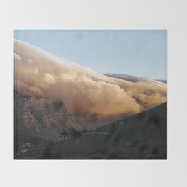Crowned in clouds Throw Blanket