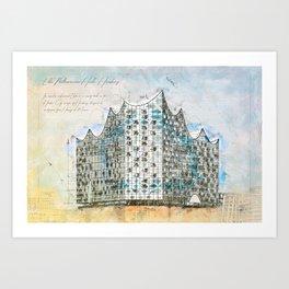 Elbe Philharmonic Hall, Hamburg Art Print
