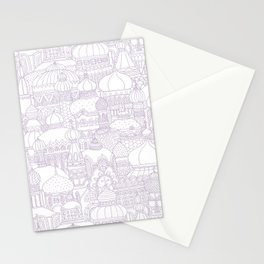 Delightful Domes - Mauve Stationery Cards