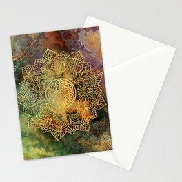 Flower Of Life Batik Stationery Cards