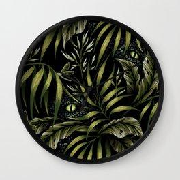 Jurassic Jungle - Camo Green Wall Clock