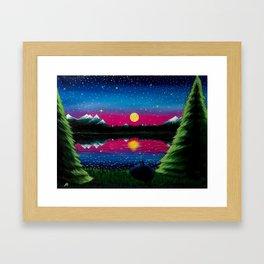 Summer's Final Moon Framed Art Print