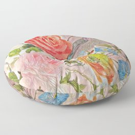 Spring Floral - Painterly Floor Pillow