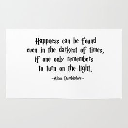 Albus Dumbledore - Turn on the Light quote - HarryPotter Rug