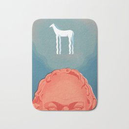 Socrates and the White Horse Bath Mat