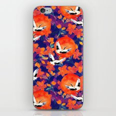 Japanese Garden: Cranes, Sun and Blossoms DK iPhone & iPod Skin