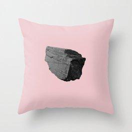 Pink Boulder Throw Pillow