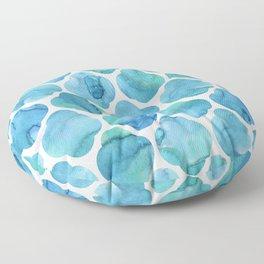 Watercolour Blue Moroccan Tile Print Floor Pillow