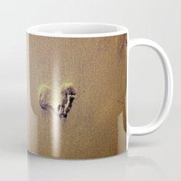 Feet on Sand-Brown Coffee Mug