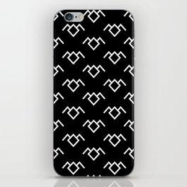 Twin Peaks Owl Petroglyph in Black Lodge iPhone Skin