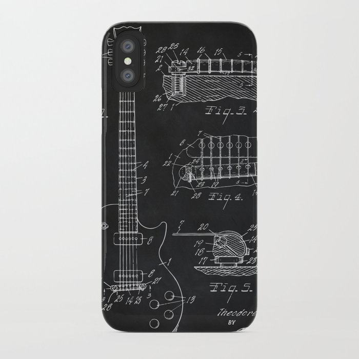 gibson guitar patent les paul vintage guitar diagram iphone case