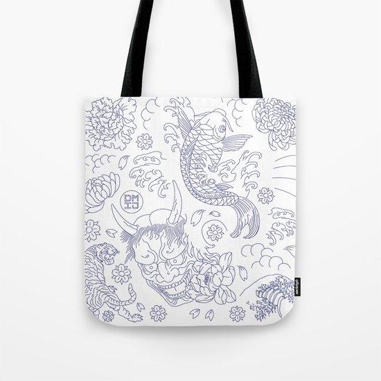 Japanese Tattoo Tote Bag