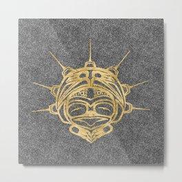 Gold Frog Smoke Metal Print