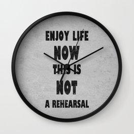 Enjoy Life Wall Clock