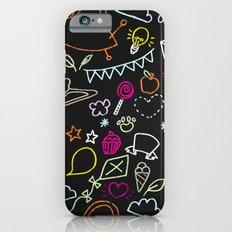 chalkboard doodles iPhone 6s Slim Case