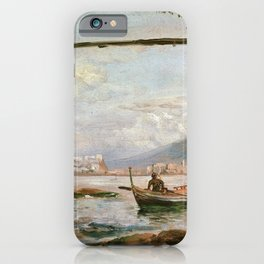 Johan Christian Dahl - View From A Grotto Near Posillipo - Digital Remastered Edition iPhone Case
